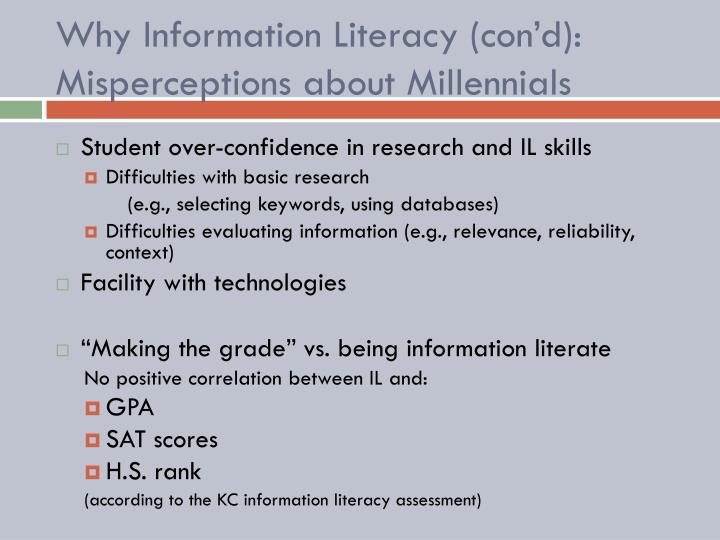 Why Information Literacy (