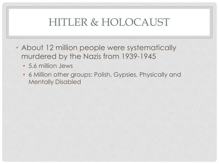 Hitler & Holocaust