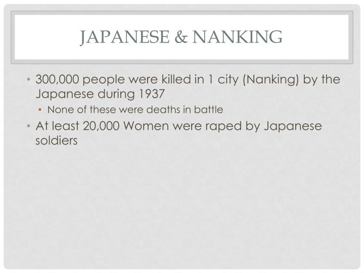 Japanese & Nanking
