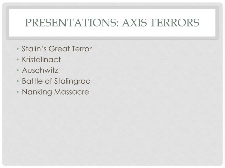 Presentations: Axis Terrors