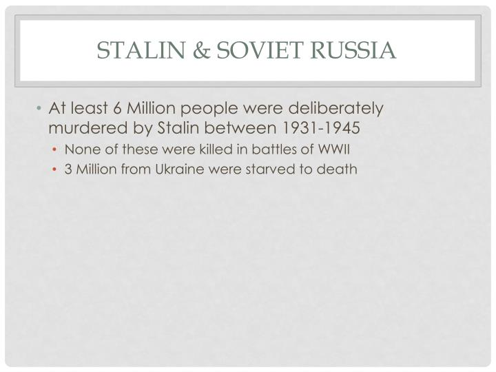 Stalin & Soviet Russia