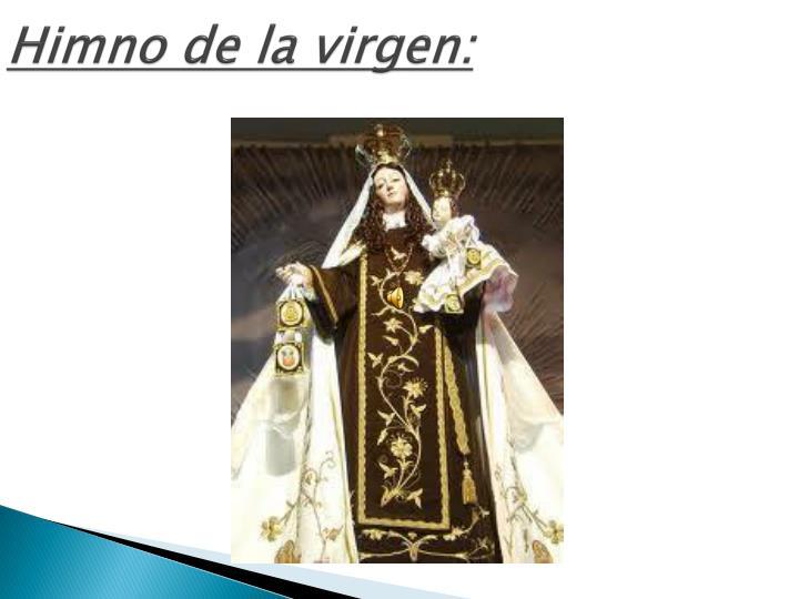 Himno de la virgen: