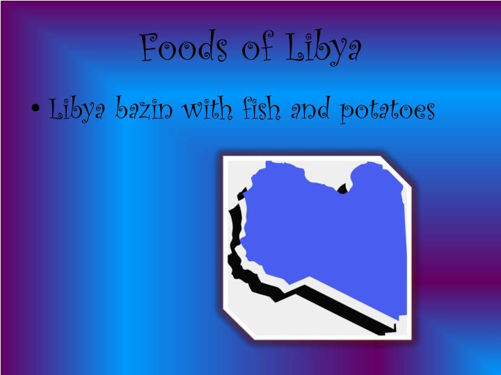 Foods of