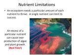 nutrient limitations