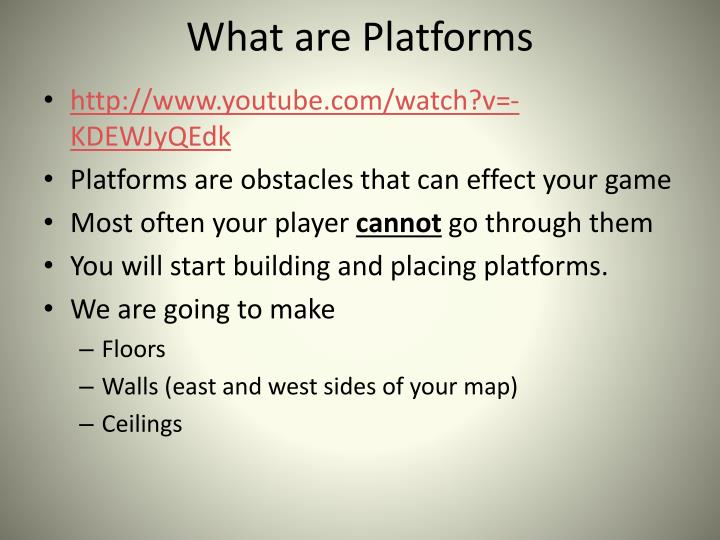 What are Platforms