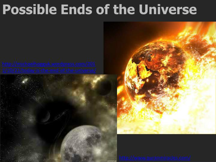 Possible Ends of the Universe