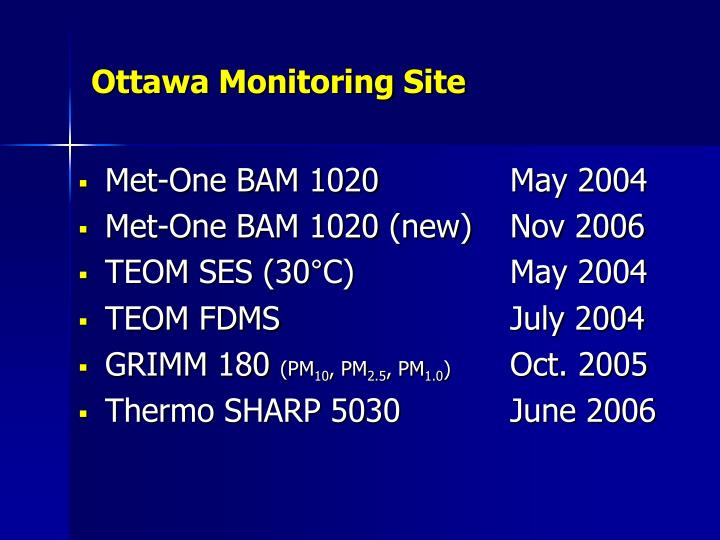 Ottawa monitoring site1