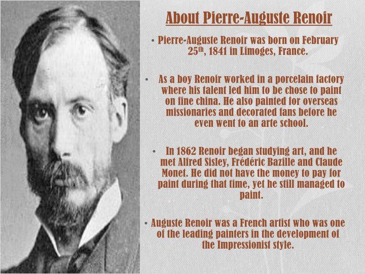 About Pierre-Auguste Renoir