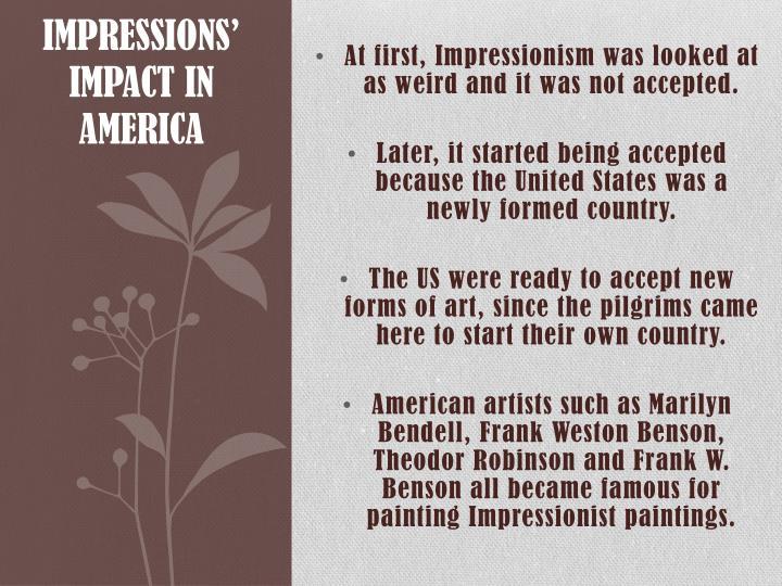 Impressions' Impact in America