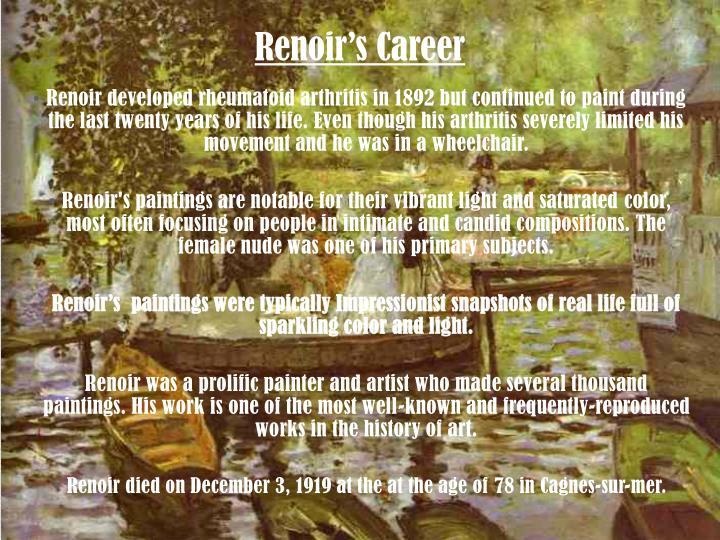 Renoir's Career