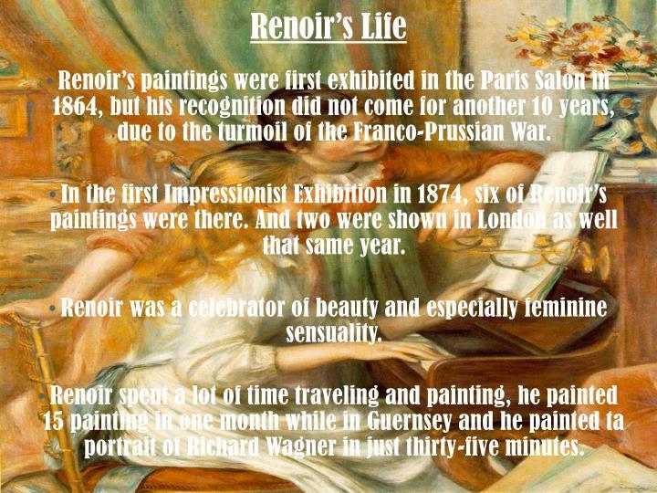 Renoir's Life