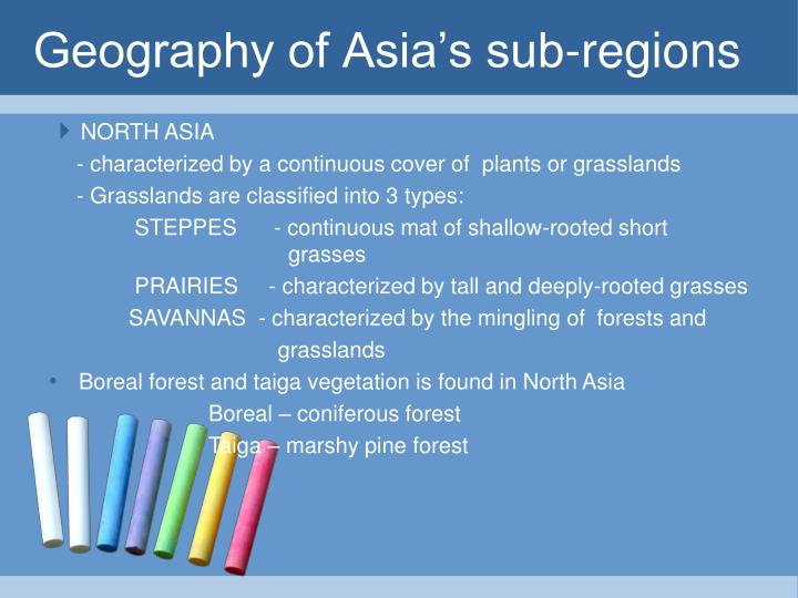 Geography of Asia's sub-regions