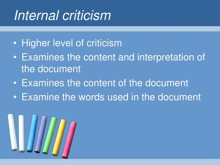 Internal criticism
