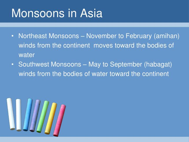 Monsoons in Asia