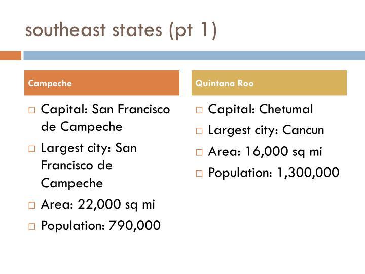 southeast states (