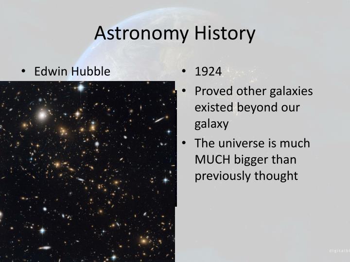 Astronomy History