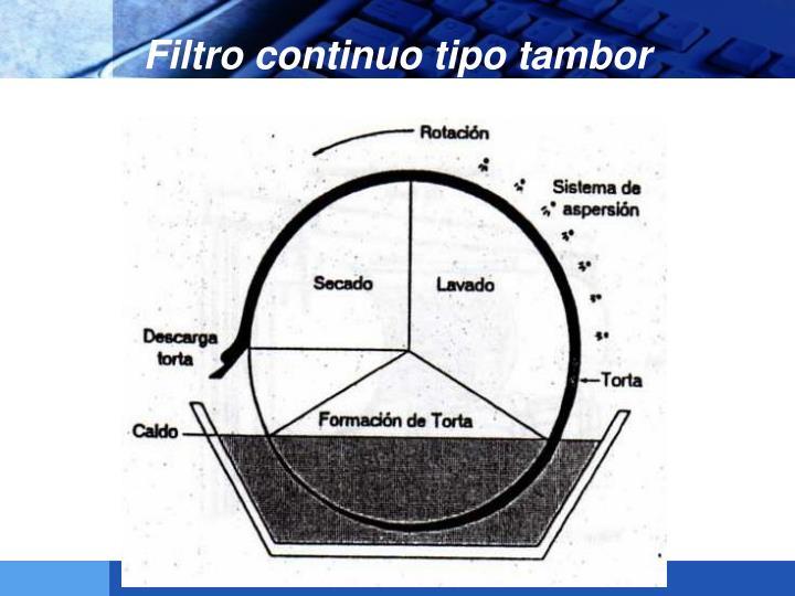 Filtro continuo tipo tambor