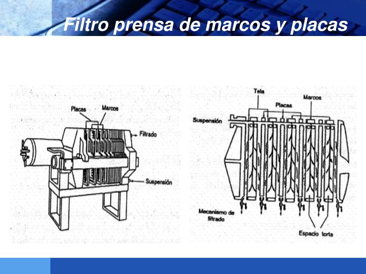 Filtro prensa de marcos y placas