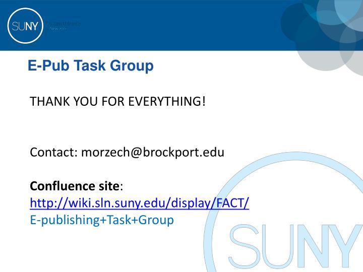 E-Pub Task Group