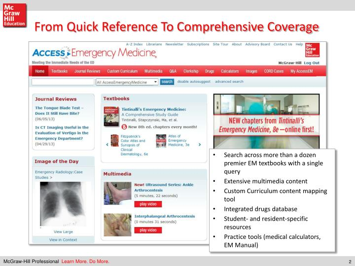 From Quick Reference To Comprehensive Coverage