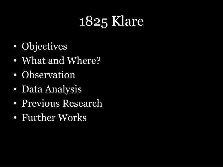 1825 Klare