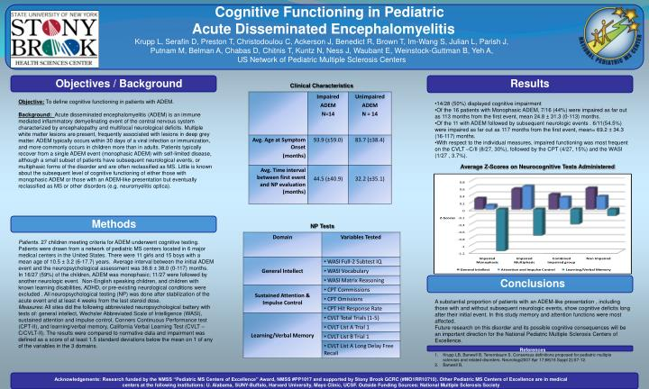 Cognitive Functioning in Pediatric