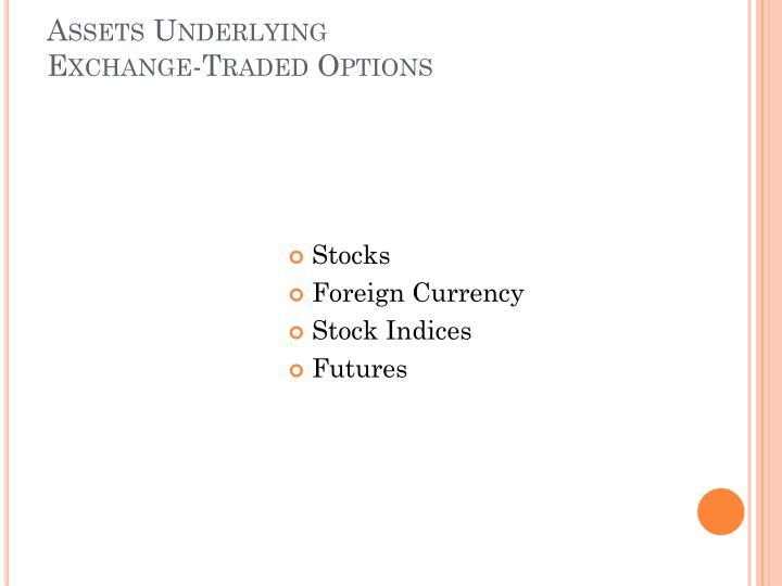Assets Underlying