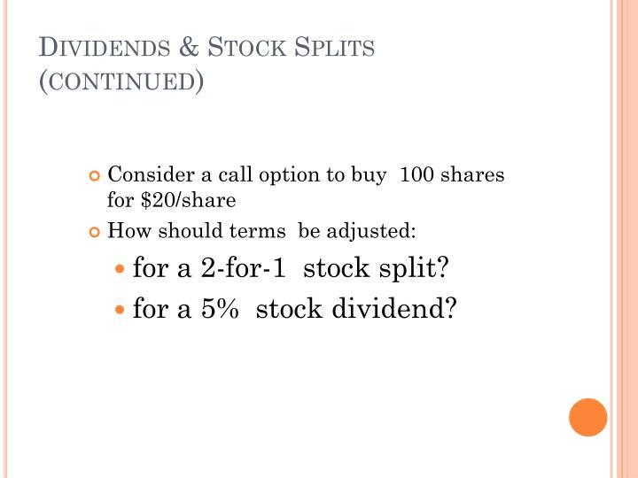Dividends & Stock Splits