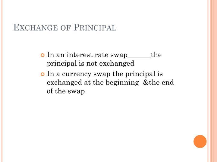 Exchange of Principal