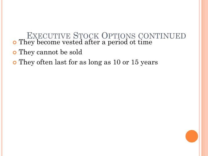 Executive Stock Options