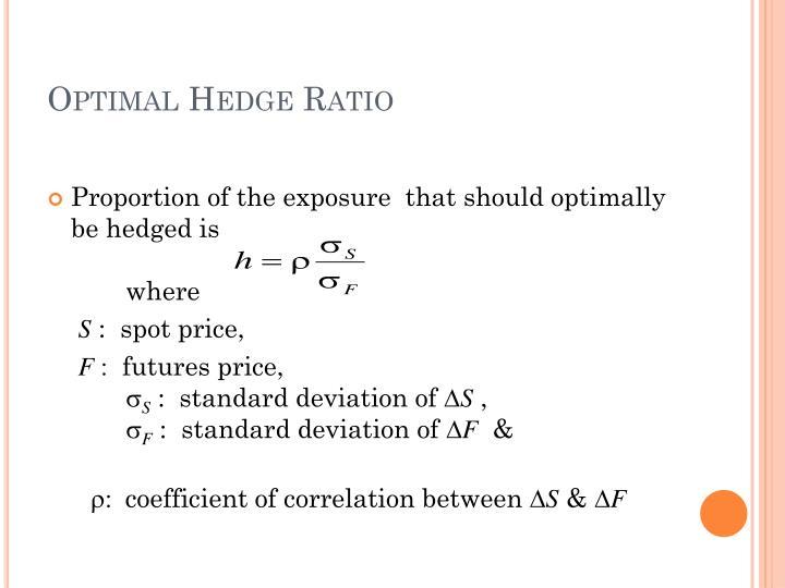 Optimal Hedge Ratio