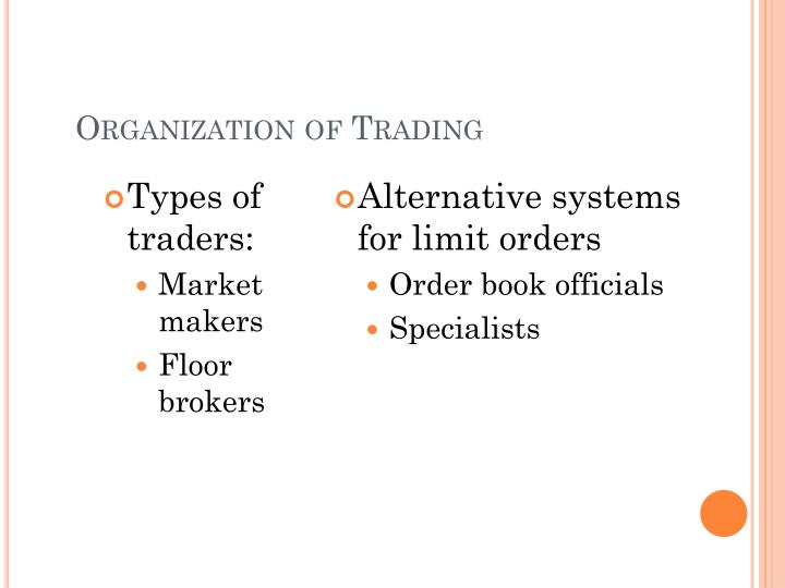 Types of traders: