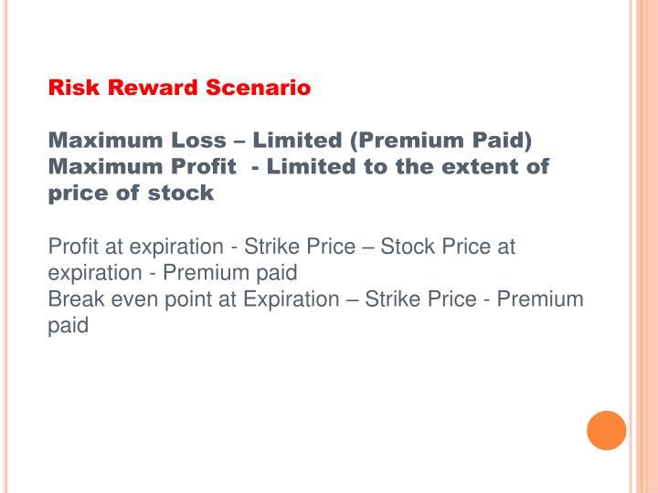 Risk Reward Scenario
