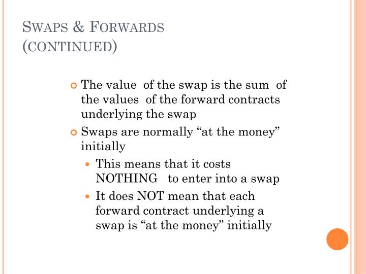 Swaps & Forwards