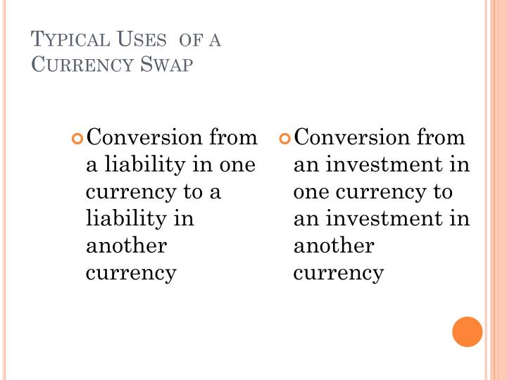 Conversion from a liability in one currency to a liability in another currency