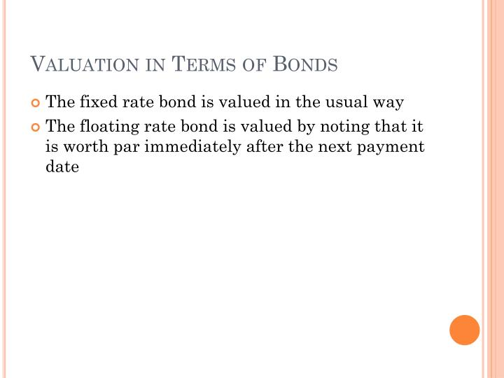 Valuation in Terms of Bonds