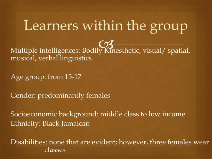 Learners within the group
