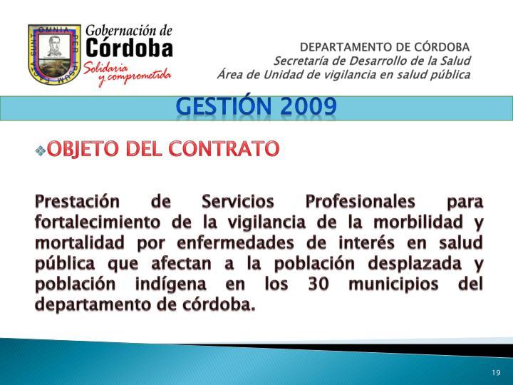 Gestión 2009