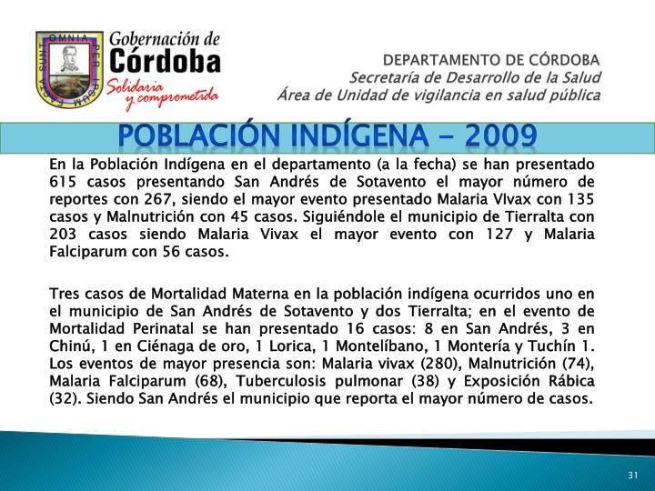 Población indígena - 2009