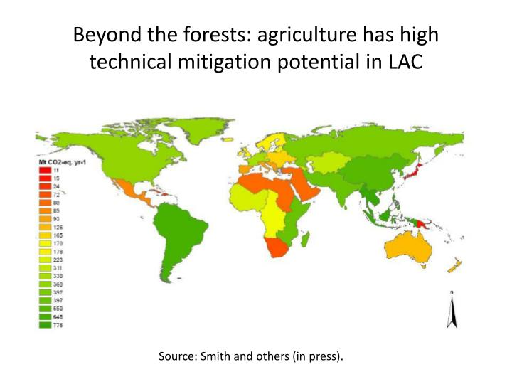 Beyond the forests: agriculture has high technical mitigation potential in LAC