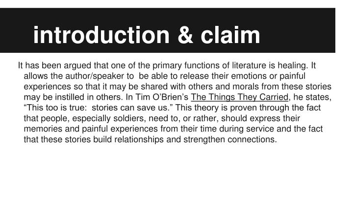 introduction & claim