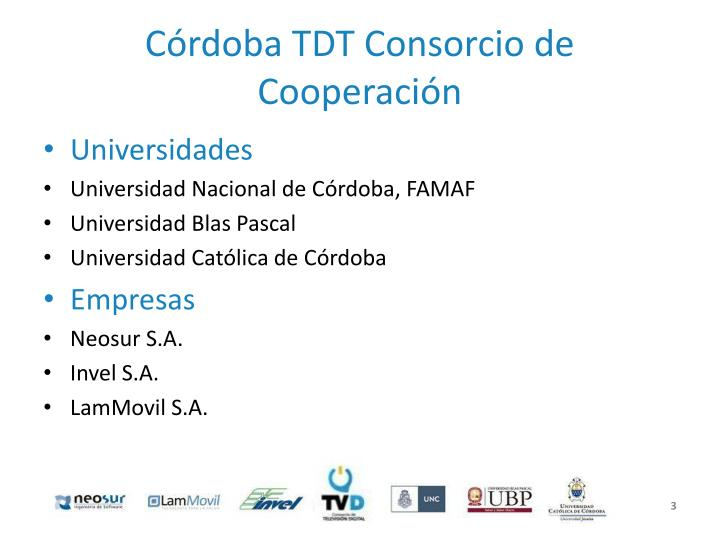 Córdoba TDT Consorcio de Cooperación