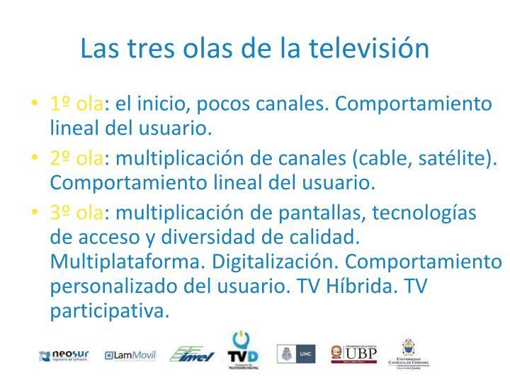 Las tres olas de la televisión