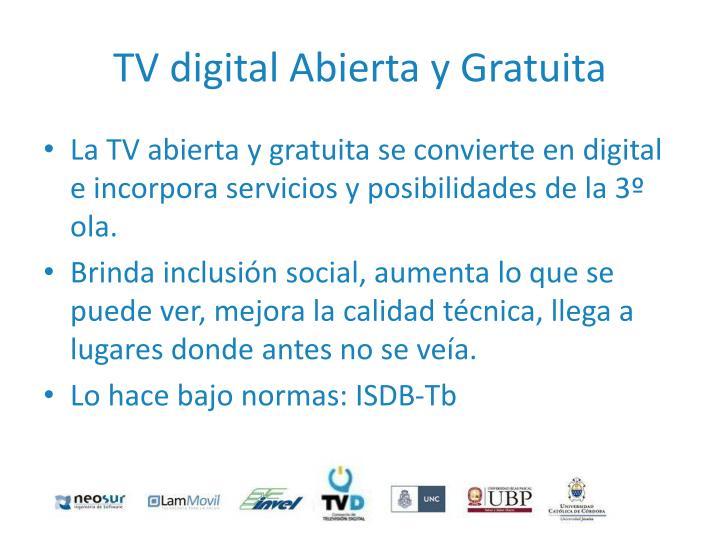 TV digital Abierta y Gratuita