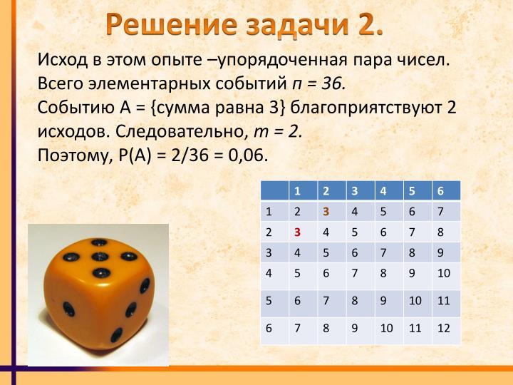 Решение задачи 2.