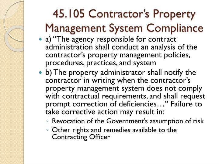 second image for Failure To Notify The Judgment Does Not Result In The with PPT - FAR PART 45 – Government Property PowerPoint ...