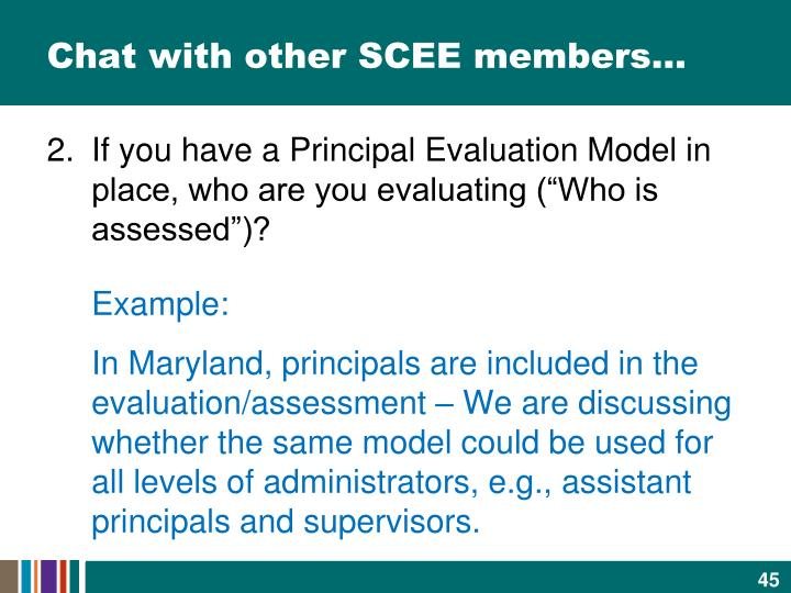 Chat with other SCEE members…