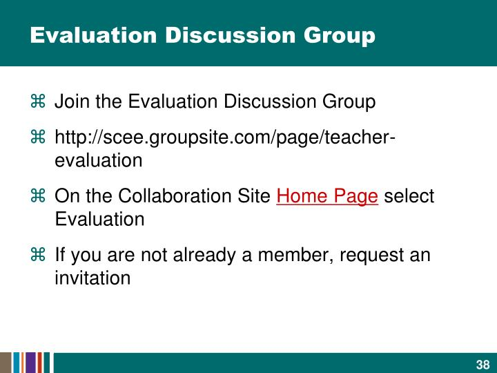 Evaluation Discussion Group