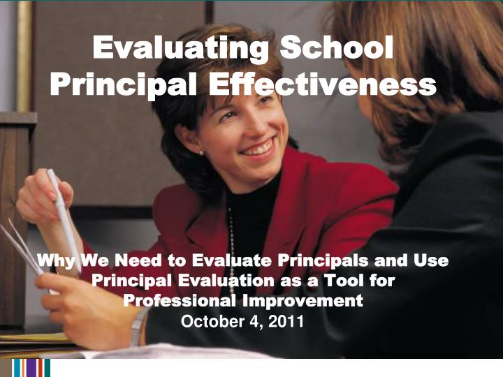Evaluating School Principal Effectiveness