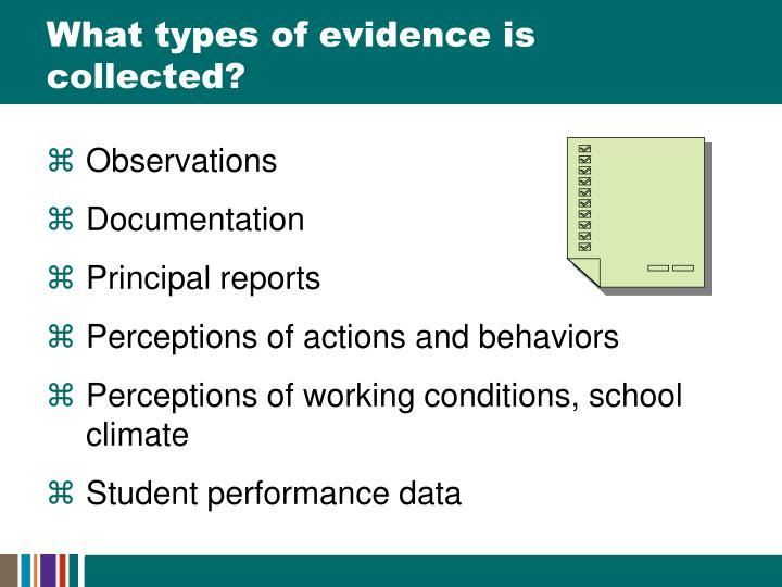 What types of evidence is collected?